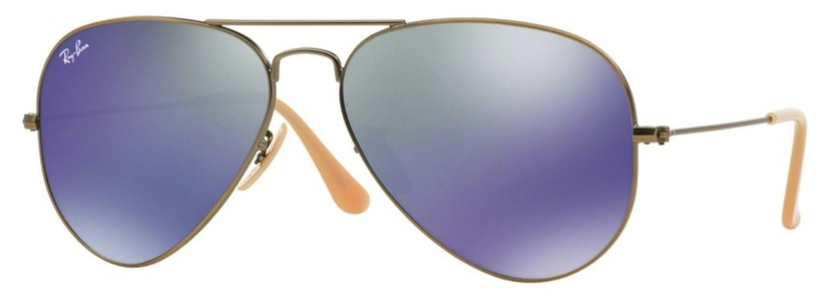282f5e8013f Demigloss Brushed Bronze with Crystal Bronze Blue Mirror Lenses · Ray Ban  RB3025 Aviator Large ...