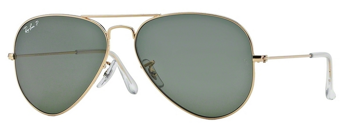 b168be7e95 Gold w  Crystal Green Polarized Lenses · Ray Ban RB3025 Aviator Large Metal  Gold w  Grey Green Lenses