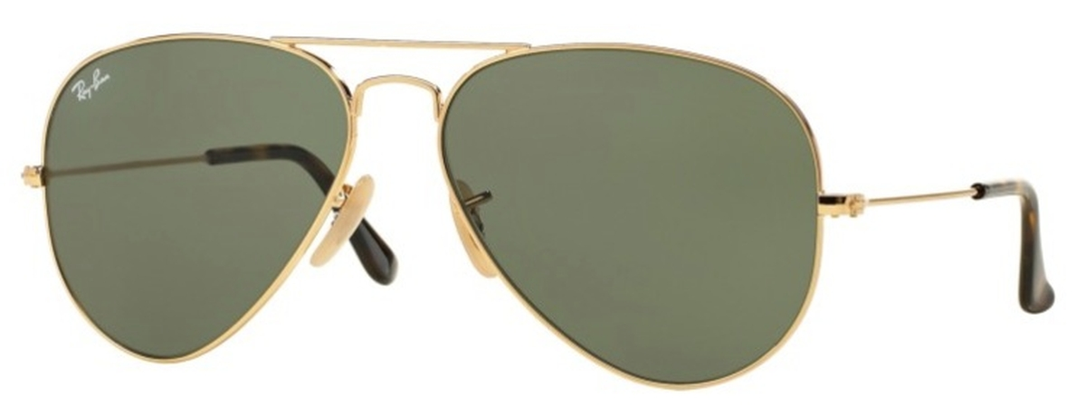 91e46d02314 Ray Ban RB3025 Aviator Large Metal Gold with Dark Green Lenses. Gold with Dark  Green Lenses
