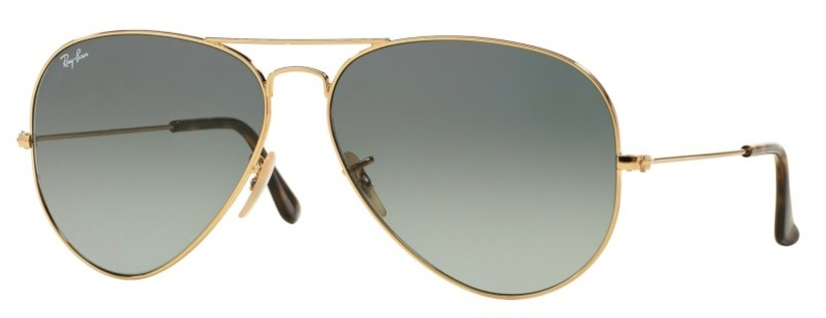 8c113756ba Gold with Crystal Light Grey Gradient Dark Grey Lenses · Ray Ban RB3025  Aviator Large ...