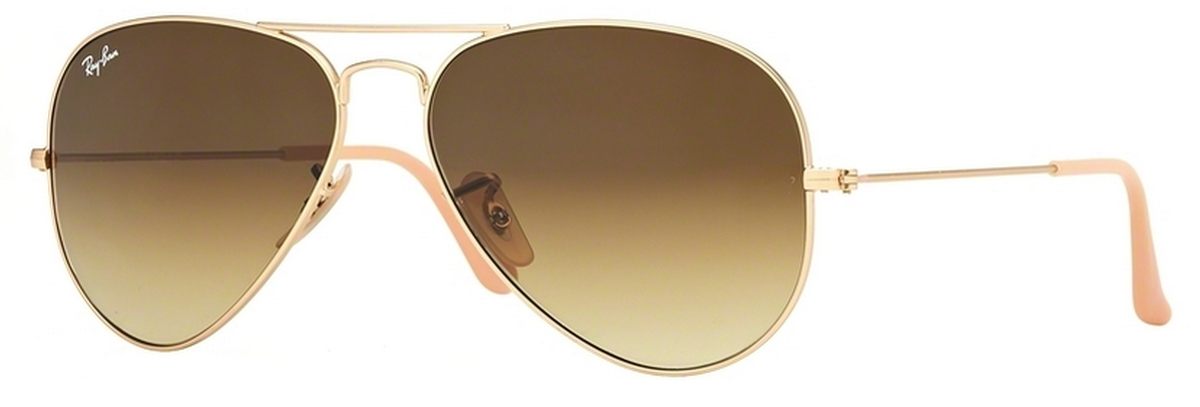 aviators glasses kmm7  Matte Gold w/ Brown Gradient Lenses