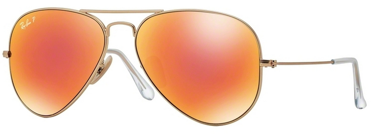 64e86b77f ... real matte gold w brown mirror red polar lenses. ray ban rb3025 aviator  large metal