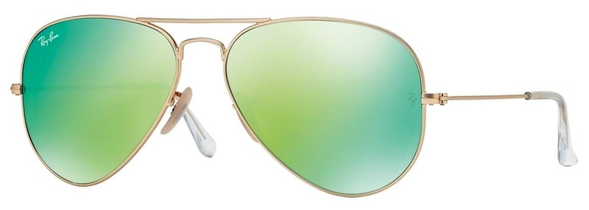 ray ban rb3025 aviator sunglasses gold frame crystal light green  Ray Ban RB3025 Aviator Large Metal Eyeglasses Frames