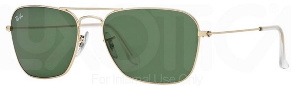 98bf310bcc Ray Ban RB3136 (Caravan) Arista with Crystal Green Lenses. Arista with  Crystal Green Lenses