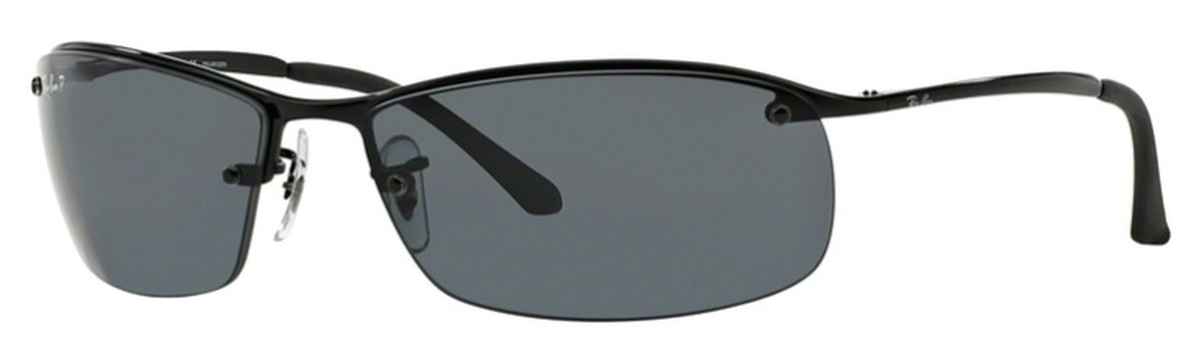 9e306a78304 ... clearance ray ban rb3183 top bar black with polarized grey lenses.  black with polarized grey