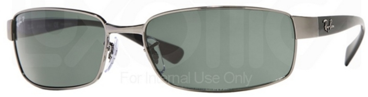 b2cbac3084 Ray Ban RB3364 Gunmetal w  Crystal Green POLARIZED Lenses. Gunmetal w   Crystal Green POLARIZED Lenses