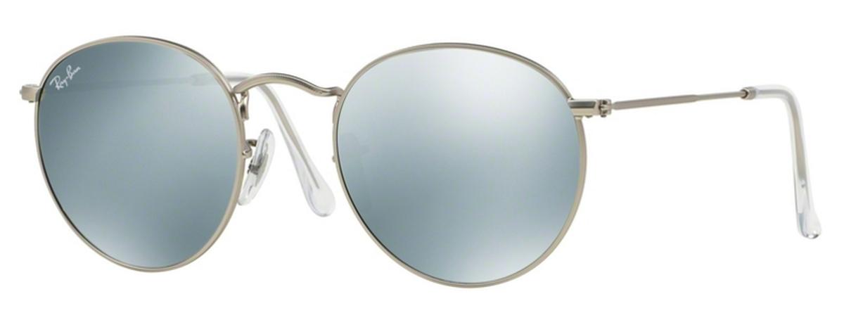 266215a1982c7 Ray Ban RB3447 Round Metal Matte Silver w  Light Green Mirror Silver  Lenses. Matte Silver w  Light Green Mirror Silver Lenses. Ray Ban RB3447  Round Metal ...