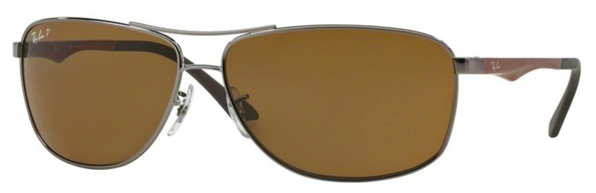 a3eb0c3db65d9 italy ray ban 3293 sunglasses polarized lenses used 9bdd5 d964c  clearance  gunmetal with polarized brown lenses. ray ban c1b09 e214d