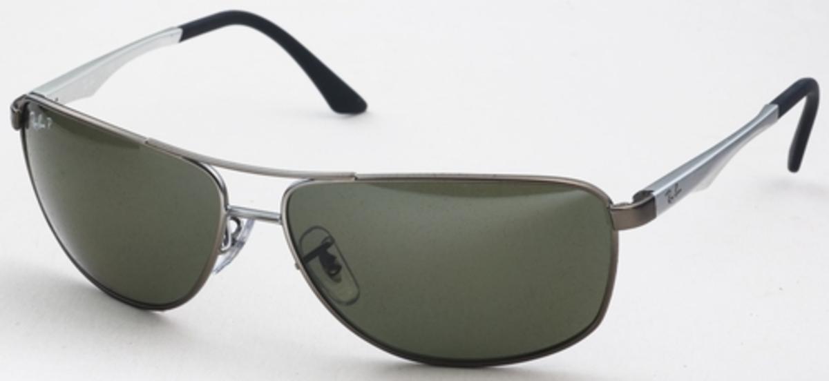 70875b1ee5 Ray Ban RB3506 Matte Gunmetal with Green Polarized Lenses. Matte Gunmetal  with Green Polarized Lenses