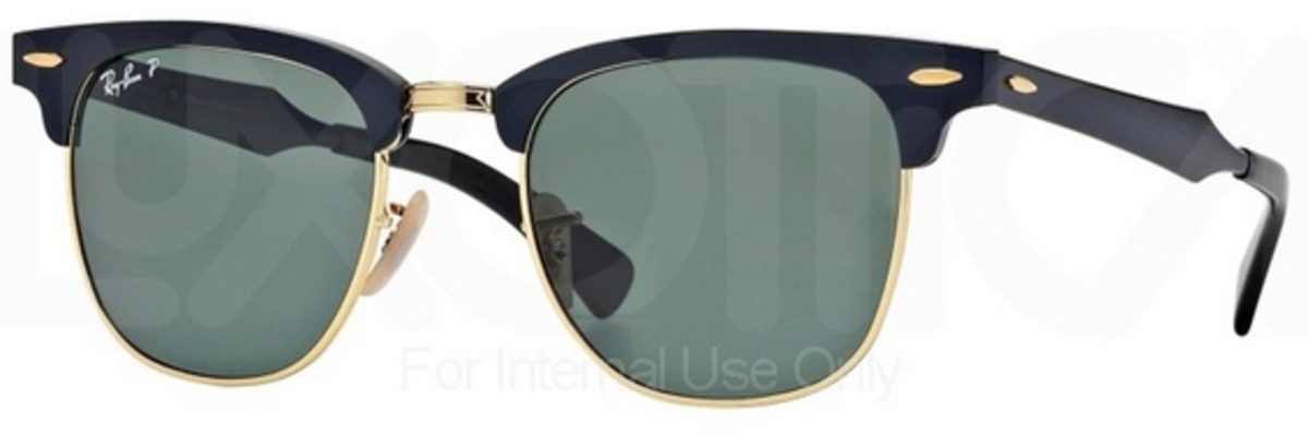 79bc7b4f9c1a Black Arista with POLAR Green Lenses. Ray Ban RB3507 Clubmaster Aluminum  Brushed Bronze Gunmetal ...