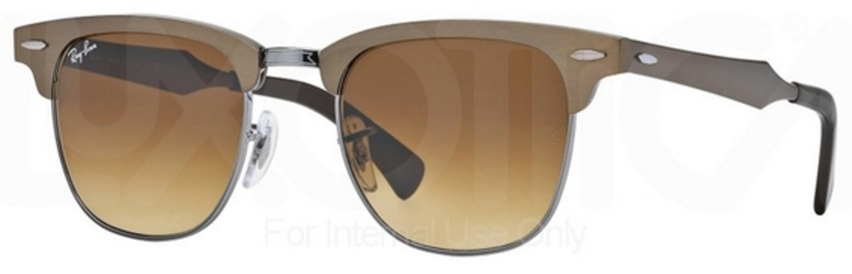 7e032a782d Brushed Bronze Gunmetal with Light Brown Lenses · Ray Ban RB3507 Clubmaster  ...