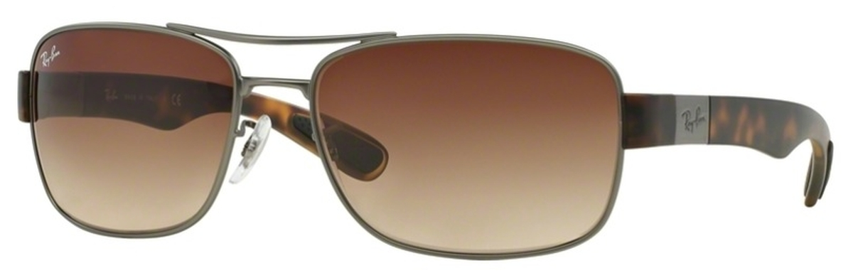 7833b3c489 Ray Ban RB3522 Matte Gunmetal with Brown Gradient Lenses. Matte Gunmetal  with Brown Gradient Lenses