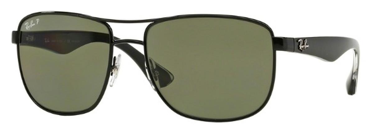 9eeeee623e Ray Ban RB3533 Black with Polarized Green Lenses. Black with Polarized Green  Lenses