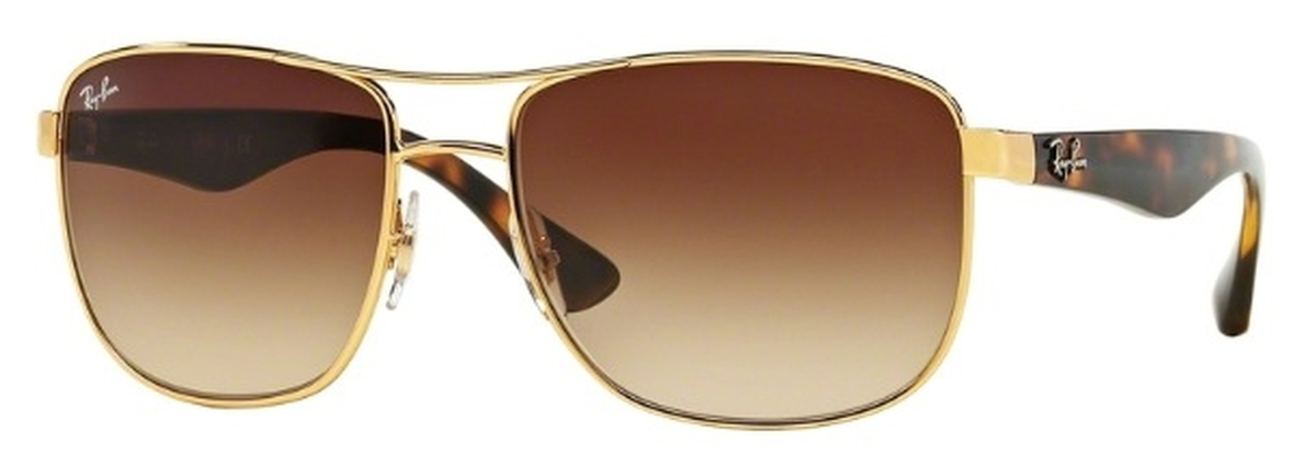 5f42c6a703d Ray Ban RB3533 Gold with Brown Gradient Lenses. Gold with Brown Gradient  Lenses · Ray Ban ...