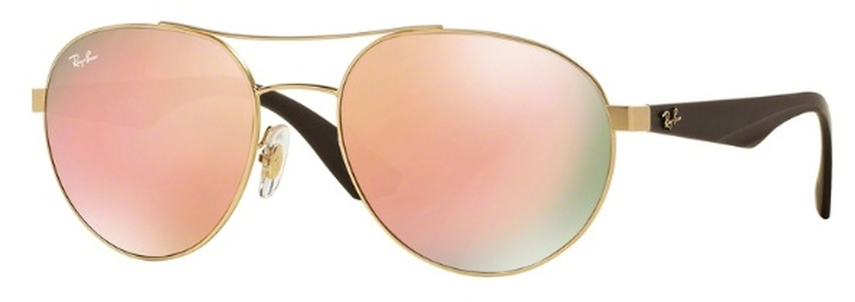 9f4e8e491b Matte Gold with Light Brown Mirror Pink Lenses · Ray Ban RB3536 Matte  Gunmetal with Gray Green Lenses