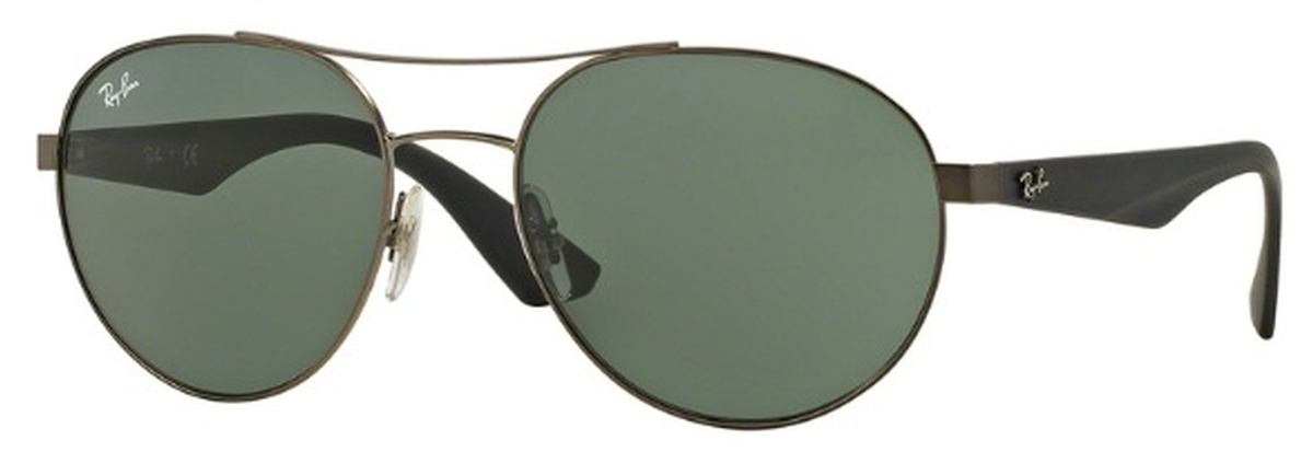 381ec66139 Ray Ban RB3536 Matte Gunmetal with Gray Green Lenses. Matte Gunmetal with Gray  Green Lenses