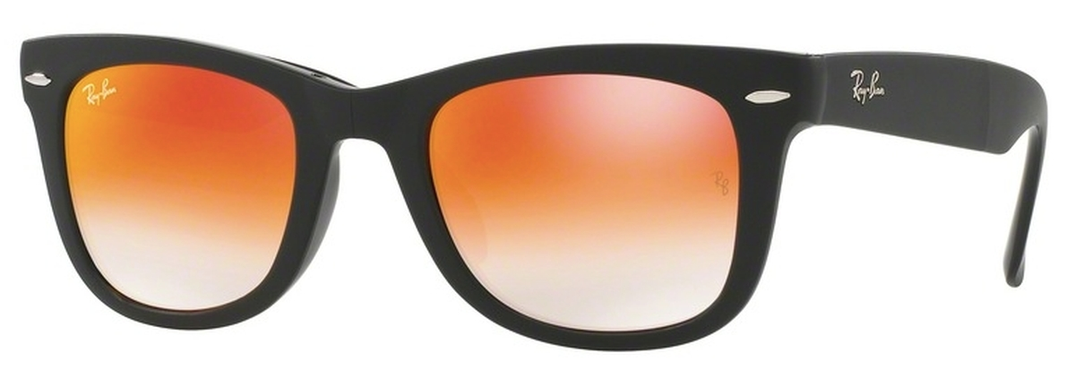0e51419d64 ... discount code for ray ban rb4105 folding wayfarer matte black with  mirror gradient red lenses.