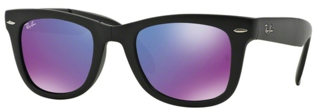 9bc3682e38ec69 Ray Ban RB4105 Folding Wayfarer Sunglasses
