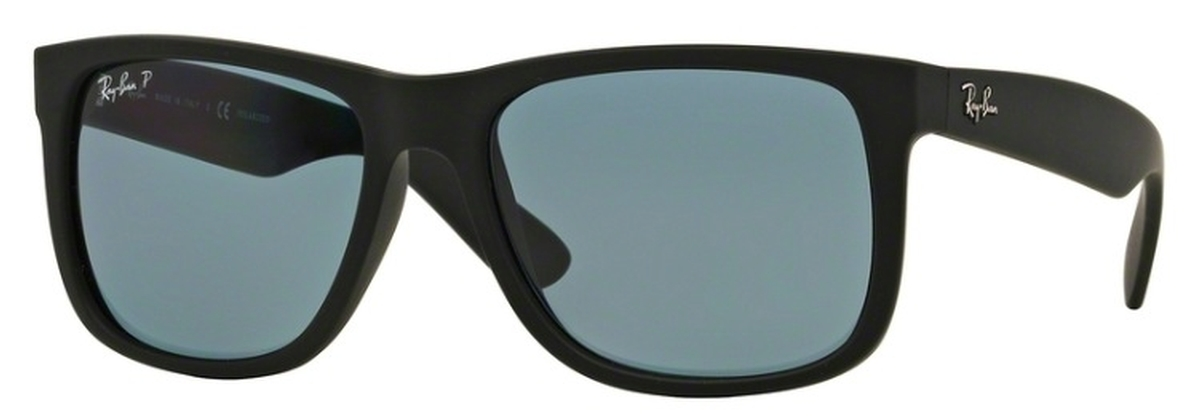 8ed0c7bfd0d Black Rubber with Polarized Dark Blue Lenses · Ray Ban RB4165 Justin Black  Rubber with Polarized ...