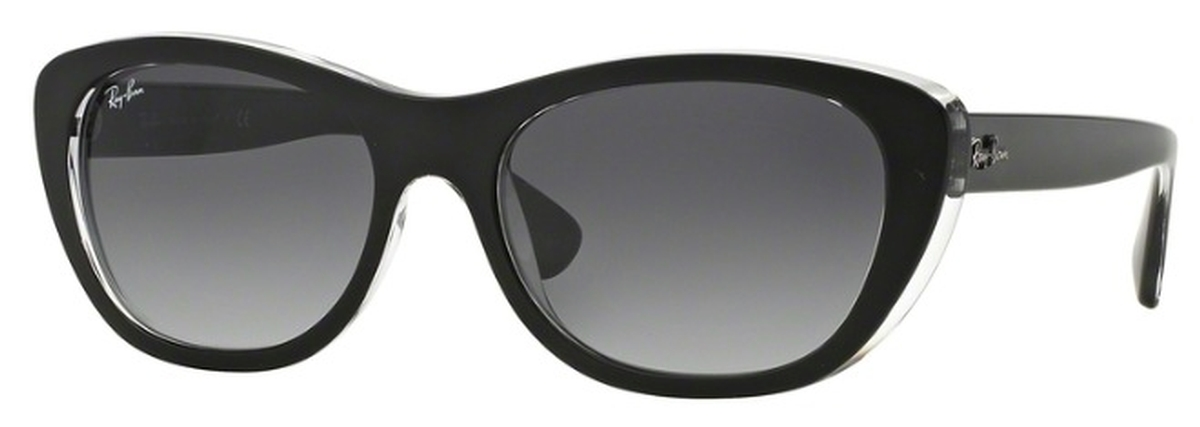 5ecf32dfc89 Ray Ban RB4227 Top Matte Black On Transparent with Grey Gradient Dark Grey  Lenses. Top Matte Black On Transparent with Grey Gradient Dark Grey Lenses