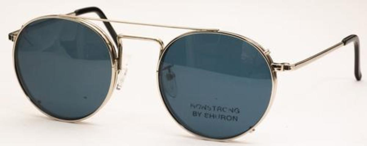 Eyeglass Frame With Clip On Sunglasses : Shuron Ronstrong Clip On Sunglasses