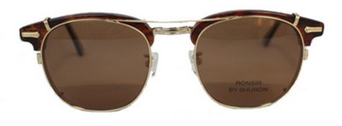 9d44210810 Gold with Polarized Brown Lenses. Shuron Ronsir CLIP ON Polarized Gold with  Polarized Grey Lenses