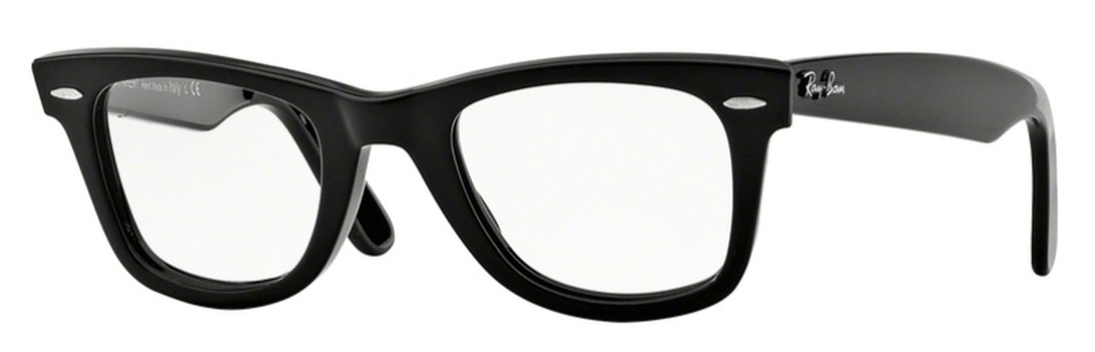ray ban wayfarer eyeglasses  ray ban glasses rx5121f wayfarer shiny black. shiny black
