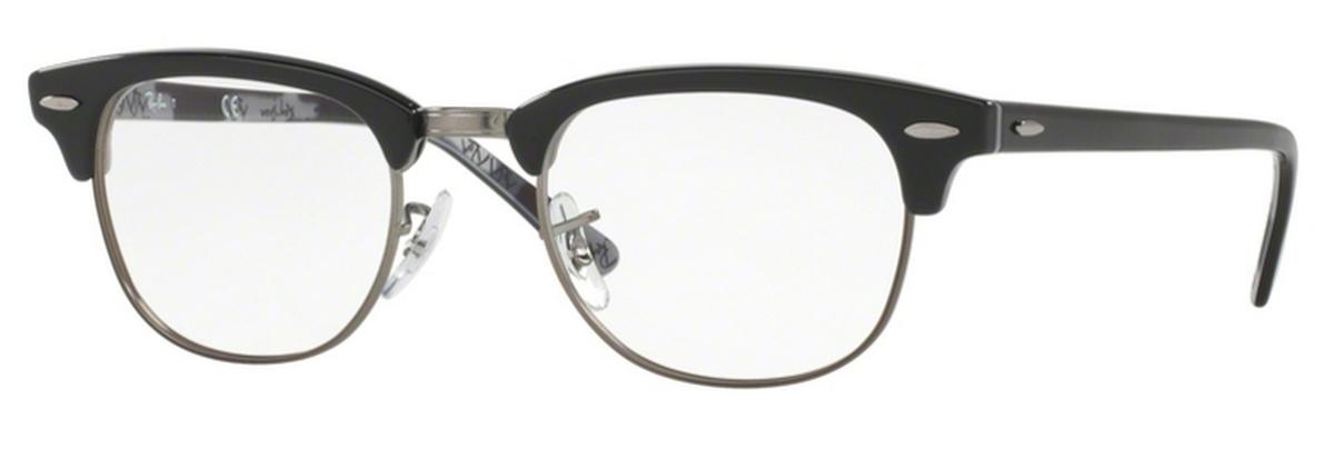 f99350b1bd23a Ray Ban Glasses RX5154 Clubmaster Black On Texture Camuflage. Black On  Texture Camuflage