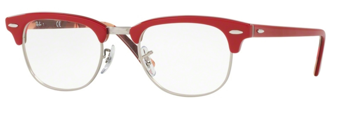 861d803a64f63 Ray Ban Glasses RX5154 Clubmaster Red On Texture Camuflage. Red On Texture  Camuflage