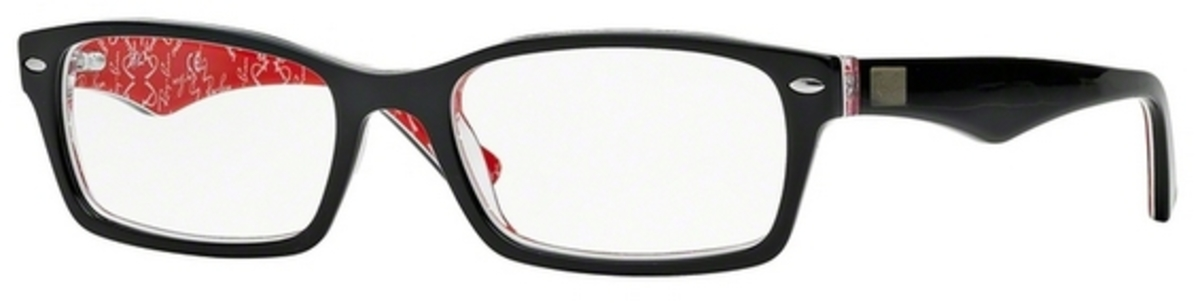 7a16a60568d Ray Ban Glasses RX5206 Top Black On Texture Red. Top Black On Texture Red