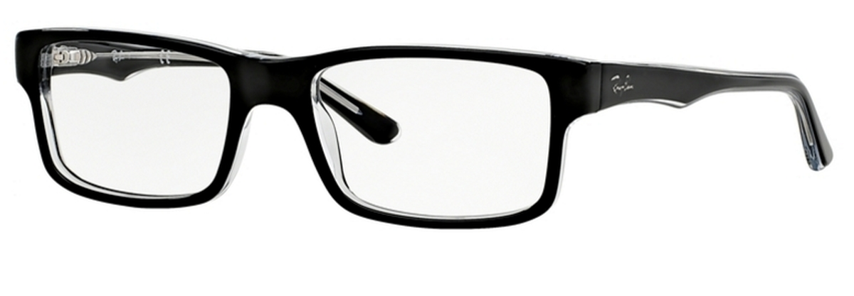 cea0e027361 Ray Ban Glasses RX5245 Top Black on Transparent. Top Black on Transparent