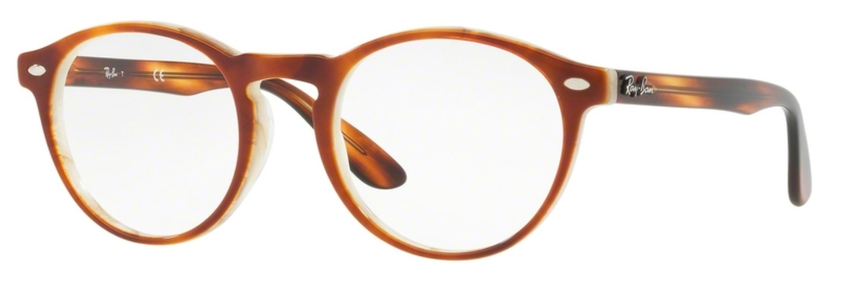 46f195be83b Ray Ban Glasses RX5283 Top Havana Brown Horn Beige. Top Havana Brown Horn  Beige