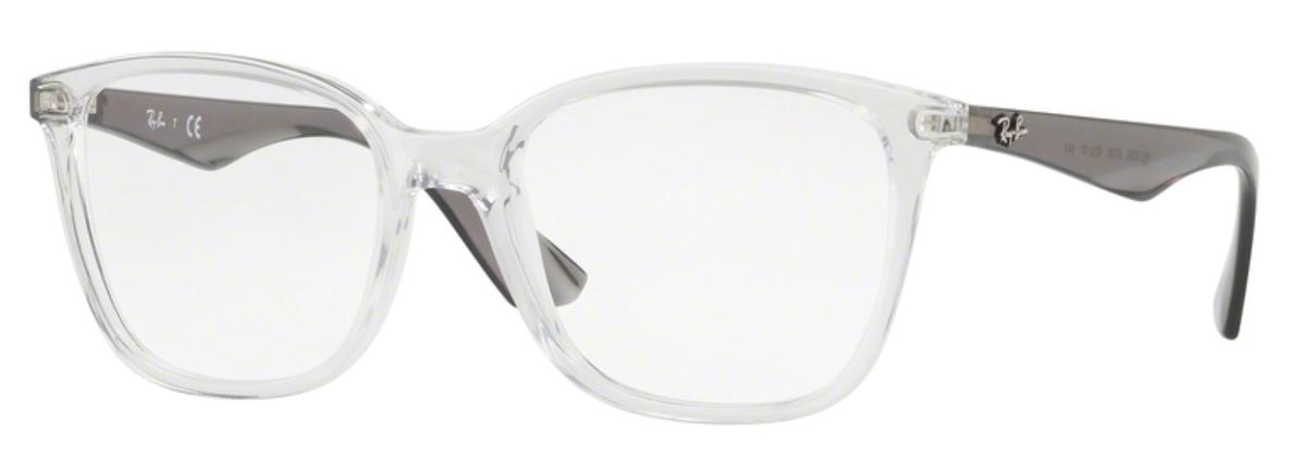 87bb596581 Shiny Havana. Ray Ban Glasses RX7066 Transparent. Transparent