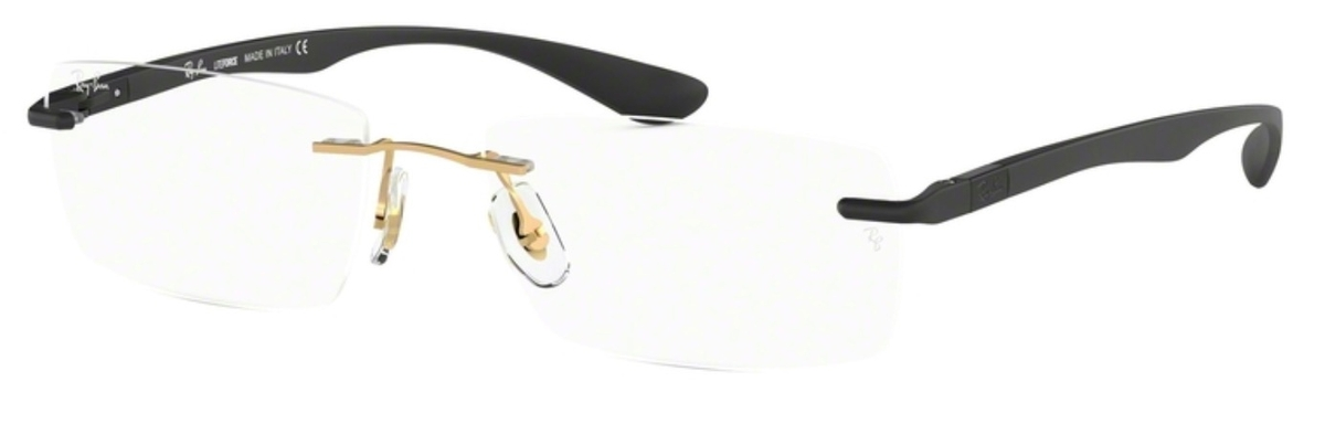 cce2ebcac0 Ray Ban Glasses RX8724 Brushed Gold. Brushed Gold
