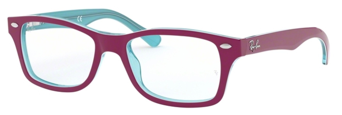 5e305666c8f458 Ray Ban Junior RY1531 Azure Transparent Top on Fuscia. Azure Transparent  Top on Fuscia