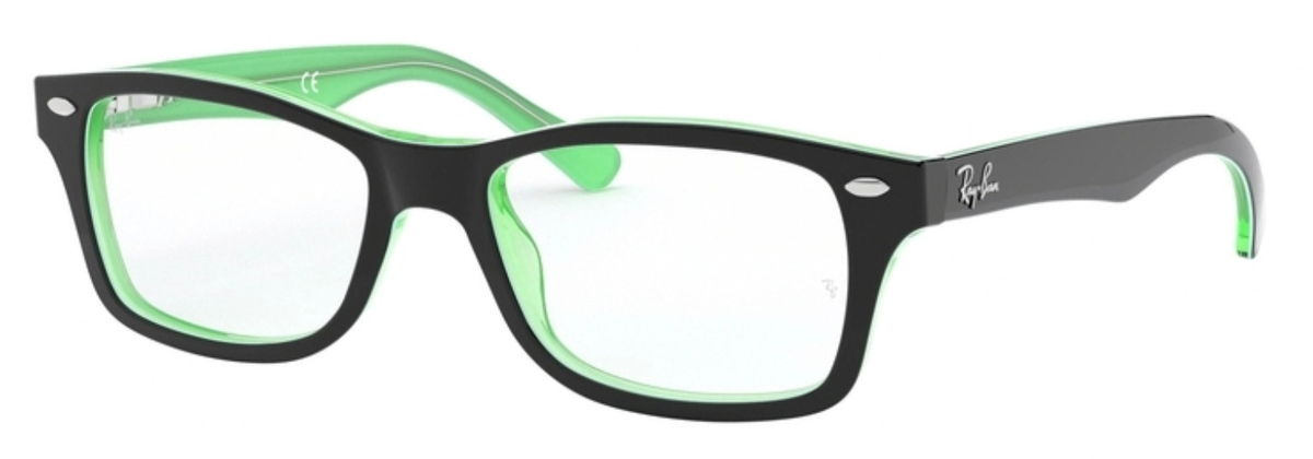 1131027d186 Ray Ban Junior RY1531 Green Transparent on Top Black. Green Transparent on  Top Black