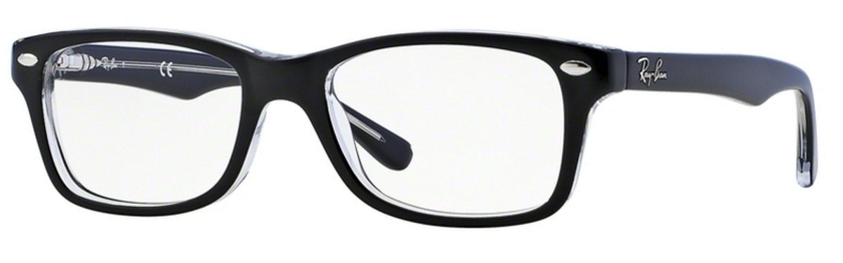 481229b8013 Ray Ban Junior RY1531 Top Black on Transparent. Top Black on Transparent
