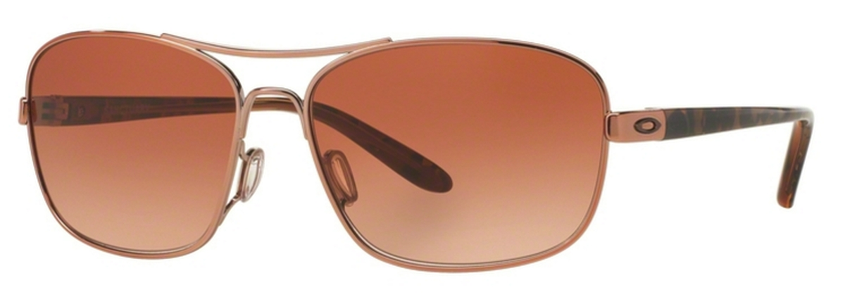 63855699cf 01 Rose Gold with VR50 Brown Gradient Lenses. Oakley SANCTUARY OO4116 02  Gunmetal with Black Iridium Lenses