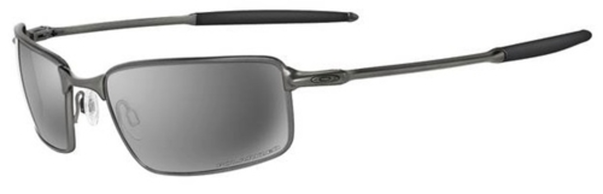 578f0091fa Oakley Ti Square Wire Polarized OO6016 Pewter with Polarized Black Iridium  Lenses. Pewter with Polarized Black Iridium Lenses