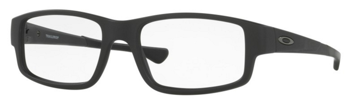 oakley rimless eyeglasses 9ygu  Oakley Traildrop OX8104 Satin Black 01 Satin Black 01