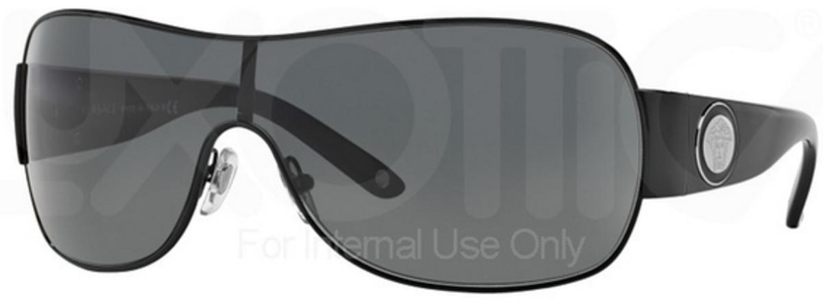 352f1079e656e Versace VE2101 Black with Gray Lens 100987. Black with Gray Lens 100987