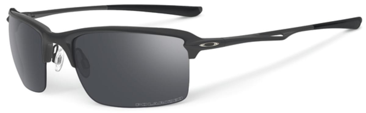 1e405fcd44a41 Matte Black with Polarized Black Iridium Lenses. Oakley Wiretap OO4071  Polished Black with ...