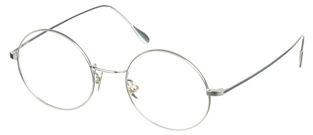 7f35545c8b Dolomiti Eyewear ZNK1110 Round 24KT 24kt Sterling Silver   Surgical  Stainless Steel. 24kt Sterling Silver   Surgical Stainless Steel