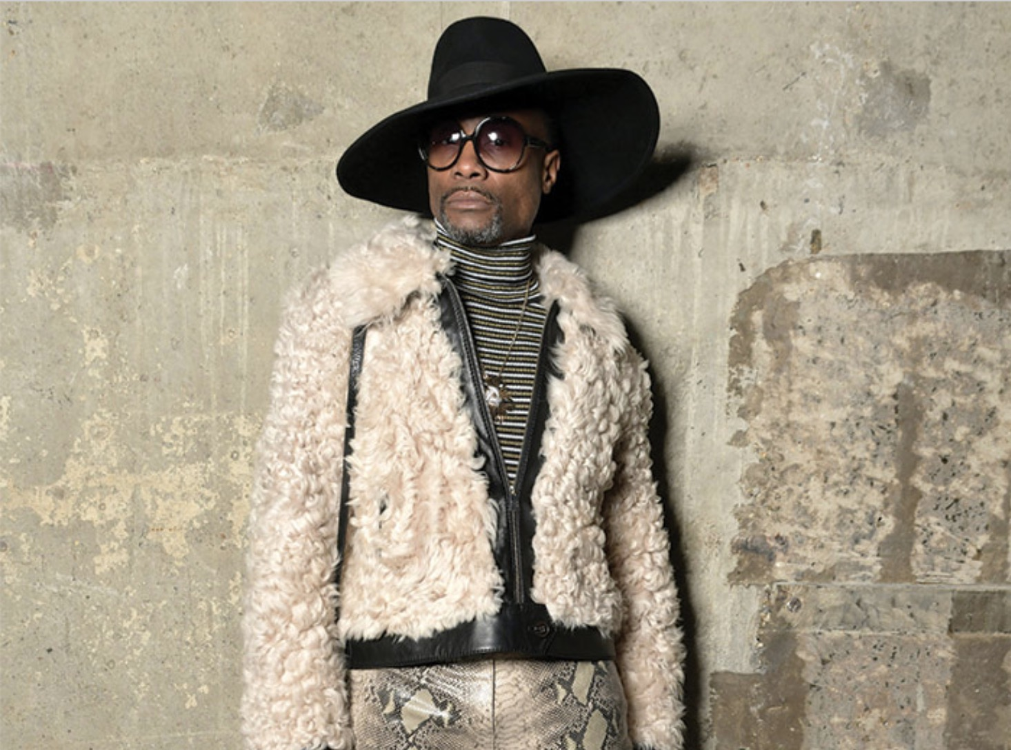 Billy Porter in Round Sunglasses by Tommy Hilfiger