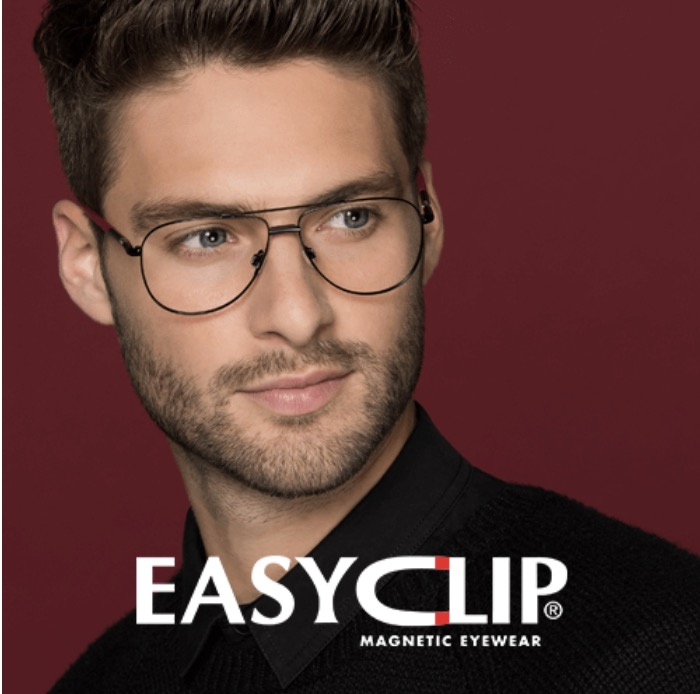 Easyclip Eyeglasses With Magnetic Sunglass Clips