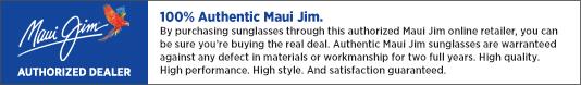 Eyeglasses.com is a Maui Jim Authorized Dealer