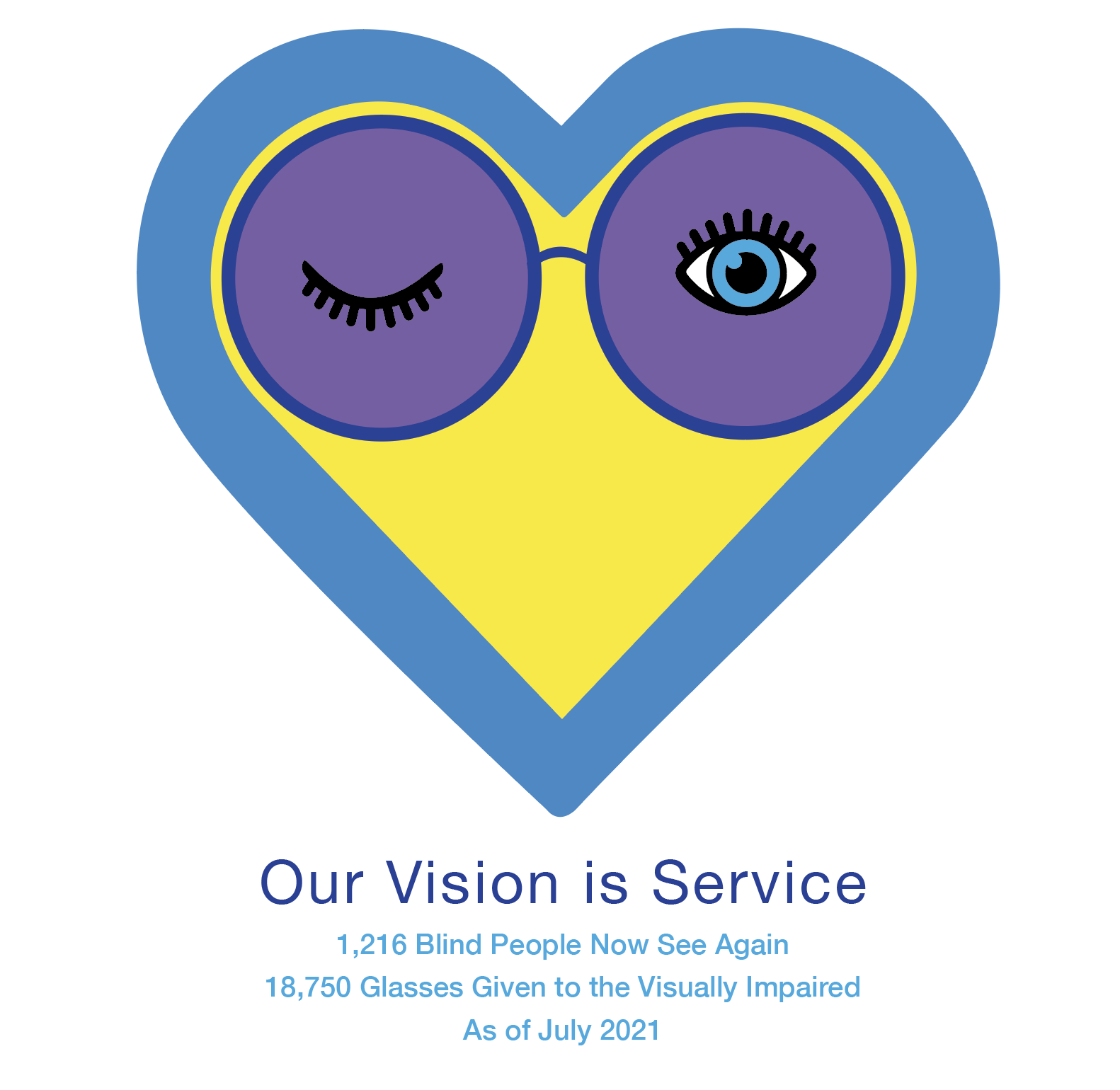 Our Vision Is Service Heart Logo