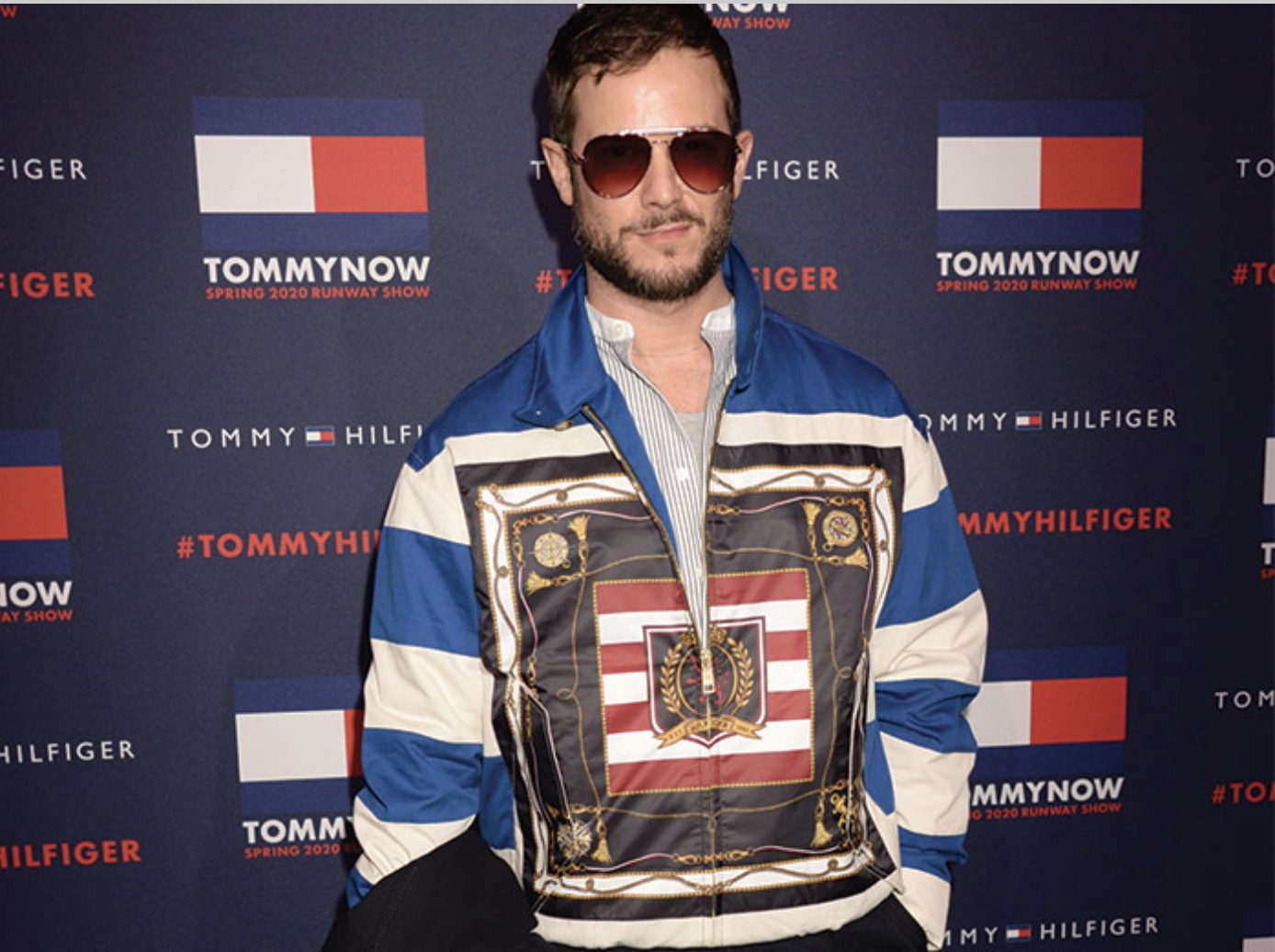 Paolo Stella in Tommy Hilfiger 1709 Aviator Sunglasses