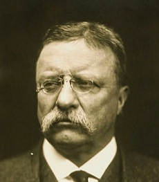 Teddy Roosevelt Wearing Pince-Nez Glasses