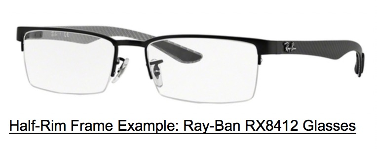 Half Frame Glasses Type, Ray Ban RX8412